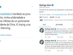 巴西参议长众议长代表国会就爱德华多辱华言论向中方致歉