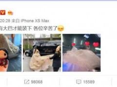 刘亦菲晒《花木兰》首映花絮照 裙摆大的只能大巴车装下
